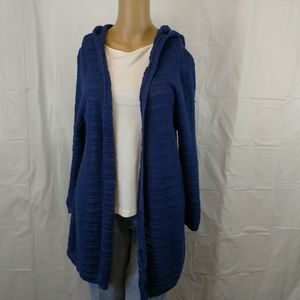 Dress Barn open front cardigan size large blue